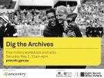 Dig the Archives banner V1.0 AJ 20150320
